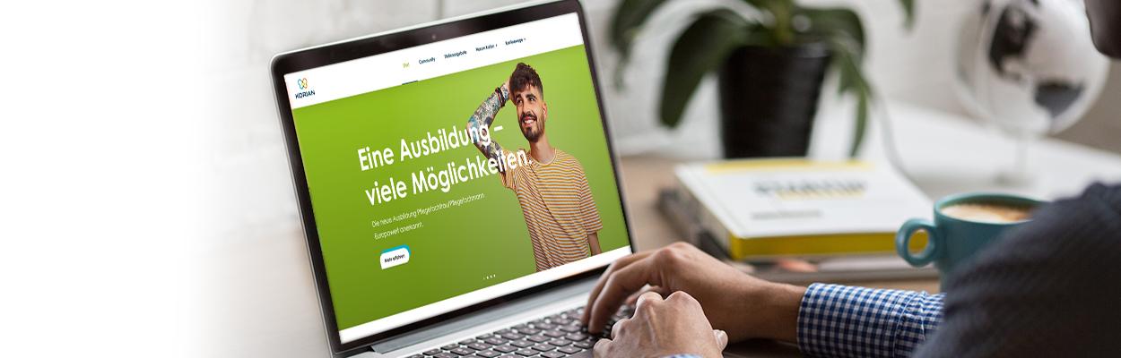 Neues Webdesign für die KORIAN Karriereseite