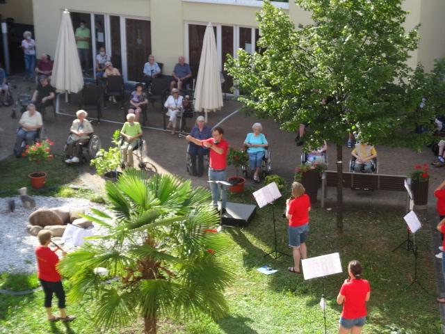 Sinfonisches Blasorchester Ludwigshafen zu Gast im Haus Paulinenhof 15.08.2020