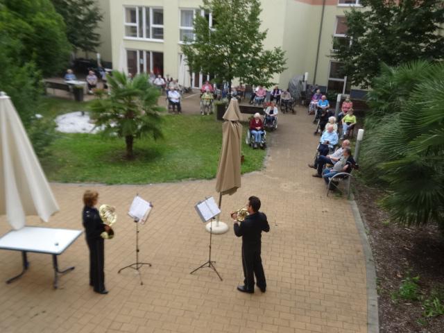 Landespolizeiorchester RLP zu Gast im Haus Paulinenhof 04.09.2020